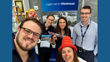 Parramatta Light Rail team visit Westmead
