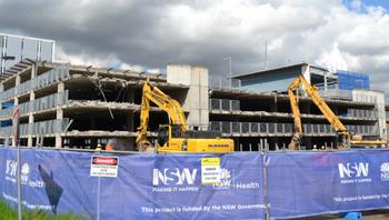 Heavy demolition works begin
