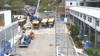 Hospital's link underway