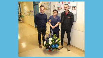 Flowers to celebrate A3a handover