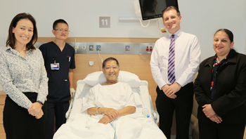 Patients celebrate new gastroenterology ward